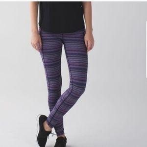 Purple Stripped Lululemon Leggings
